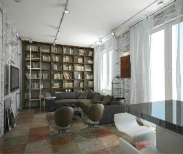 Студия в стиле лофт в Петербурге: дизайнер Мария Василенко