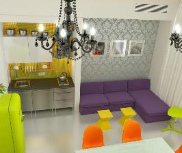 Мини-апартаменты для жилья и работы: дизайнер Игорь Меренков