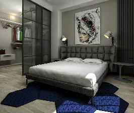Незаметное объединение – гардеробная в спальне: проект Татьяны Процюк