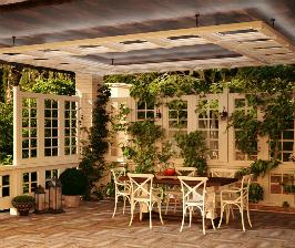 Пристройка террасы к кирпичному дому: проект Ольги Кулекиной
