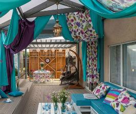 Строительство террасы к дому для большой семьи: проект Евгении Михайловой