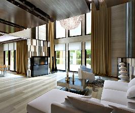 Интерьер в деревянном доме в Репино: проект Станислава Орехова