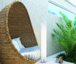 Дизайн спальни в доме с отдельной зоной релакса: проект Дениса Турбина