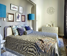 Круглая спальня в стиле ар-деко: уютный изысканный кокон