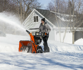 Husqvarna убирает снег быстрее