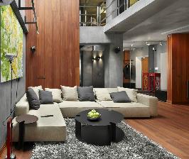 Квартира-студия со стеклянной крышей: дизайнер Дмитрий Позаренко
