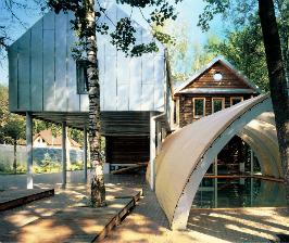 Стильный деревянный дом: дизайн проектной группы Поле-дизайн