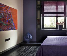 Спальня в фиолетовых тонах: дизайнер Мария Ватолина