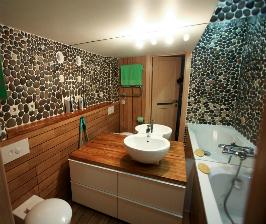 Ванная комната без плитки: дизайнер Екатерина Демидова