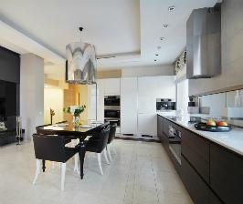 Стильная черно-белая кухня: дизайнер Михаил Хусаинов
