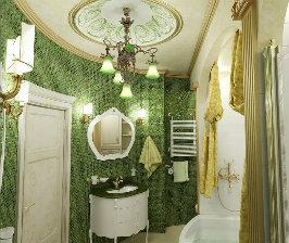 Отделка ванной: более 60 000 руб.
