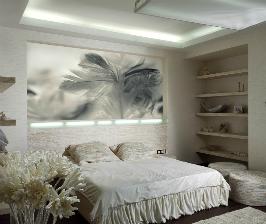 Фотообои в спальню в киевской квартире: дизайнер Виктория Якуша