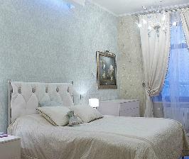 Классическая спальня в светлых тонах: дизайнер Наталья Мациенко