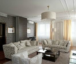 Респектабельная гостиная со столовой: дизайнер Антон Теддерсон