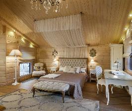 Брус всемогущий: как сделать спальню принцессы в деревянном тереме