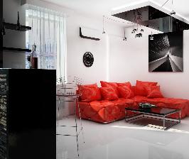 Современная альтернатива стенам в гостиной