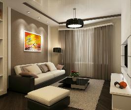 Простой элегантный интерьер небольшой квартиры