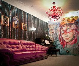 Музыкальный салон и расписные стены в квартире: дизайнер Елена Лебедева