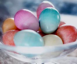 Как сделать градиентные пасхальные яйца