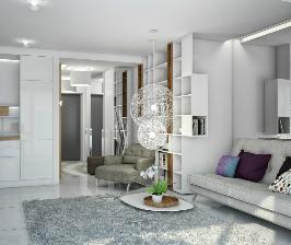 Однокомнатная студия с панорамным окном