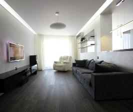 Большая квартира в стиле минимализма: дизайнер Денис Дедулев