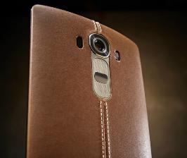 LG одевает новый смартфон в кожу