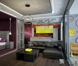 Дизайн малогабаритной квартиры студии: дизайнер Никита Березин