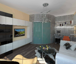 Однокомнатная квартира для молодого человека: дизайнер Александр Шереметьев
