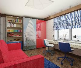 На абордаж: детская комната в морском стиле для двух мальчиков