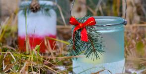 Как смастерить новогодний подсвечник из обычной банки: пошаговый мастер-класс