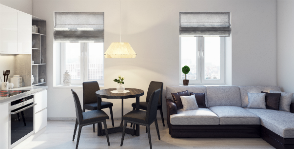 «Вкус жизни»: двухкомнатная квартира в стиле минимализм для семьи с детьми