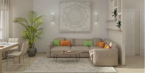 Уютная трехкомнатная квартира для современной семейной пары