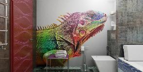 Яркий мир: эпатажный проект ванной комнаты