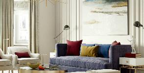 Эклектичная элегантность: интерьер квартиры в новостройке от Сергея Храбровского