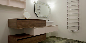 Высота раковины в ванной: возможные варианты
