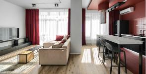 Квартира-студия mondrian: меньше стен, больше цвета