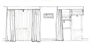 Шторы для кухни-гостиной