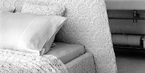 Вязаное покрывало для кровати