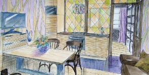 Кухня в квартире-студии