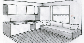 Спальное место на кухне