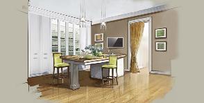 Кухня-гостиная: как расставить мебель?