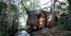 Швеция: дом с выдвигающейся комнатой