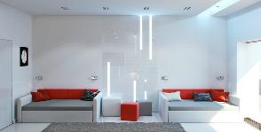 Элитная квартира-студия (серия 467) в белом цвете: проект Анны Белоконь