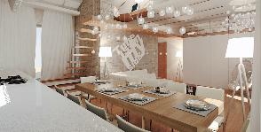 Двушка с кабинетом и спальней на чердаке: Проект Евгения Трифана
