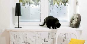 Декор окна и экрана батареи