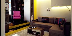 <span>Дизайн бюро «GraniStudio»</span> Квартира свободной планировки в стиле лофт