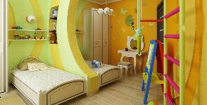 Двушка в современном стиле с детской на двоих: дизайнер Виктория Назарчук