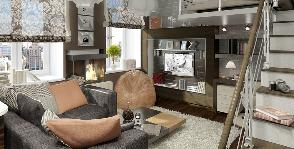 Однушка со спальней на антресолях: архитектор Елена Богатырева