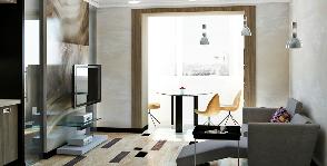 Однушка с многофункциональной гостиной: дизайн-студия «Мастерская Воронцовых»