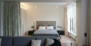 Гостиная и спальня в соседних зонах: способы разделения и оформления
